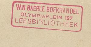 Stempel Van Baerle boekhandel en leesbibliotheek, Olympiaplein 127, Amsterdam