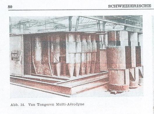 Afbeelding van de Van Tongeren Multi-Aërodyne, uit: Schweizerische Bauzeitung van 1938.