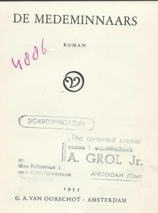 Leesbibliotheek A.Grol, Amsterdam-O.