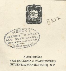 Heeck's Leesbibliotheek, Bestevaerstraat 49, Amsterdam