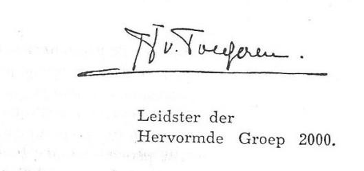 Handtekening Jacoba van Tongeren