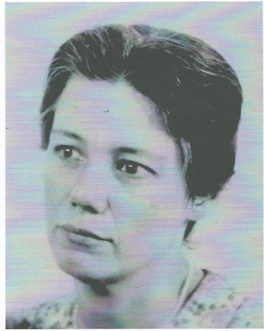 Pasfoto van een nog jonge Jacoba van Tongeren