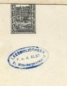 Leesbibliotheek F.v.d.Elst, Kl. Wittenburgerstraat, Amsterdam
