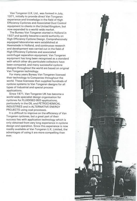 Van Tongeren United Kingdom Limited, formed in 1971