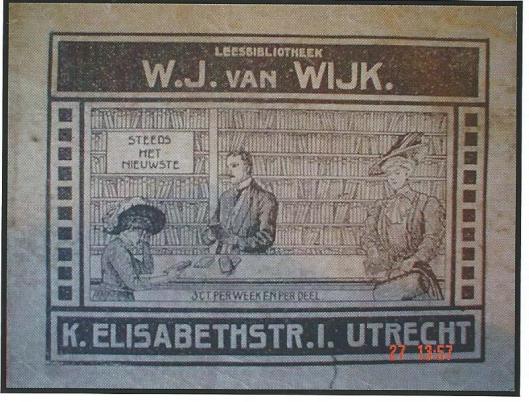 Leesbibliotheek W.J.van Wijk, Utrecht (Hillebrand Komrij)