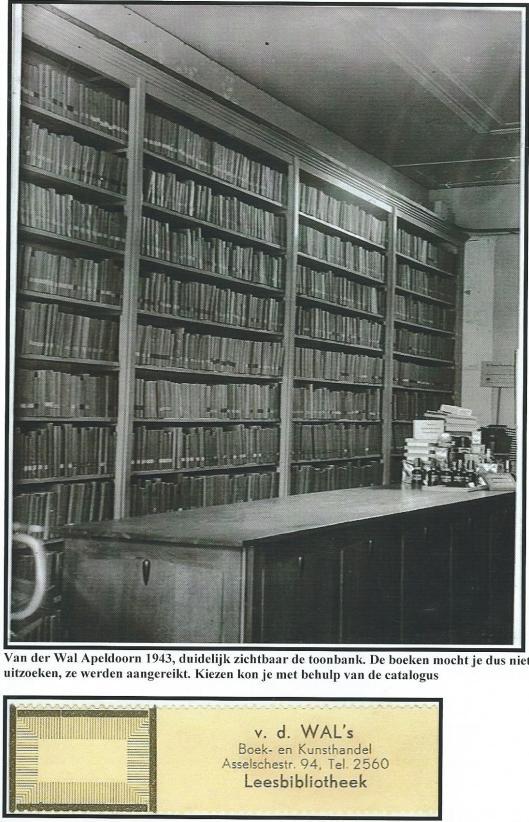 Van der Wal's Leesbibliotheek, Apeldoorn, 1943. De boeken konden via een catalogus worden uitgezocht (Hillebrand Komrij)