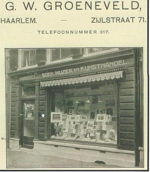 Leesbibliotheek G.W.Groeneveld, Zijlstraat 71, Haarlem (Hillebrand Komrij)