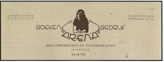 Leesbibliotheek ARENA, Lindenlaan 74, Overveen (Hillebrand Komrij)