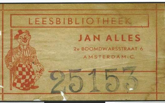 Leesbibliotheek 'Jan Alles', in de Jordaan, 2e Boomdwarsstraat 6 Amsterdam (Hillebrand Komrij)