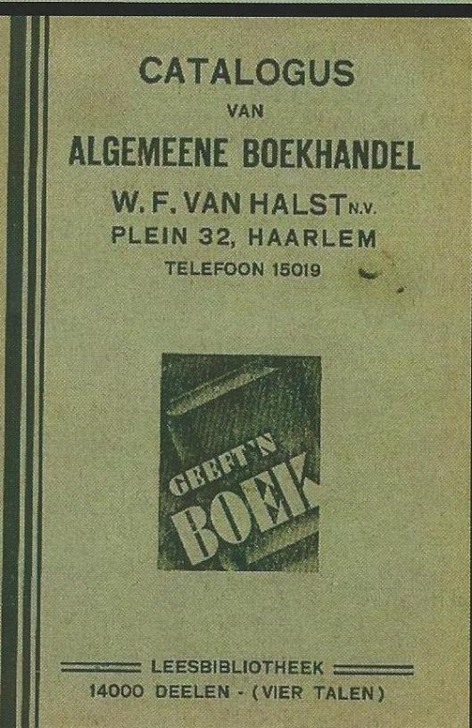 Catalogus boekhandel-leesbibliotheek W.F.van Halst, Plein 32, Haarlem (Hillebrand Komrij)