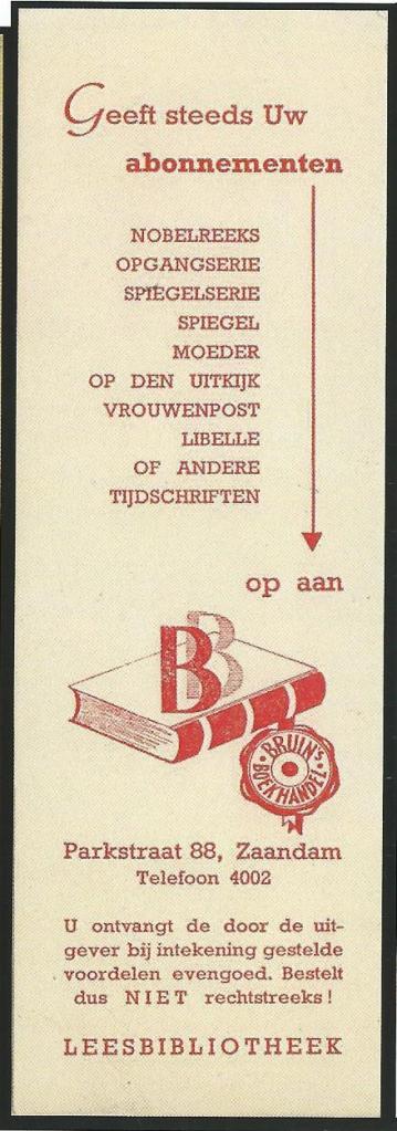Boekenlegger Leesbibliotheek, Parkstraat 88, Zaandam