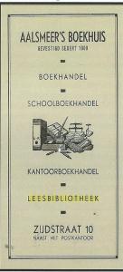 Boekenlegger Aalsmeer's Boekhuis, boekhandel, kantoorboekhandel, leesbibliotheek, Zijdstraat 10, Aalsmeer (Hillebrand Komrij)