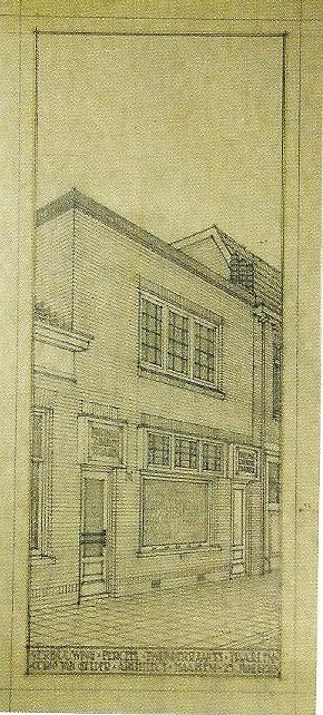 Tekening Cornelis van Gelder: verbouwing perceel Twijnderslaan 33, Haarlem (juni 1926).