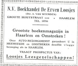 Advertentie van De Erven Loosjes uit 1931