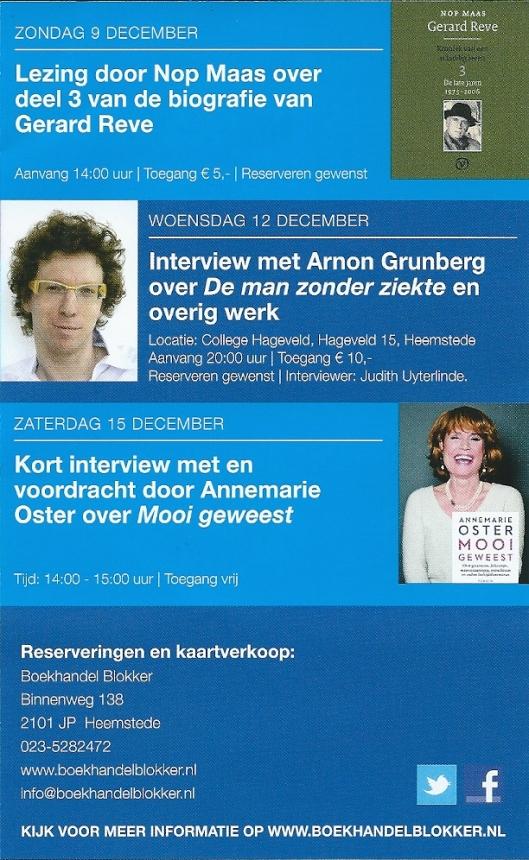 Vervolg agenda boekhandel Blokker najaar 2012