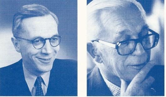 Ton Voors als jonge chartervoorzitter in de jaren 50 en als Lid van Verdienste van de Rotaryclub Heemstede in de tachtiger jaren.