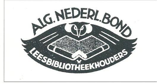 Vignet van de Algemene Nederlandsche Bond van Leesbibliotheekhouders