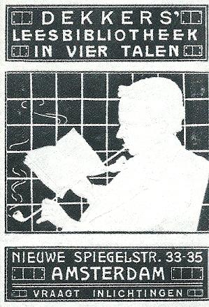 Sluizegel van Dekkers' Leesbibliotheek, Nieuwe Spiegelstraat 33-35