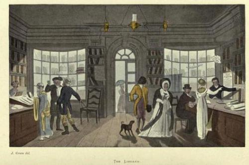 The Circulating Library in Scarborough, 1818 (Uit: Poetical Sketches of Scarborough)