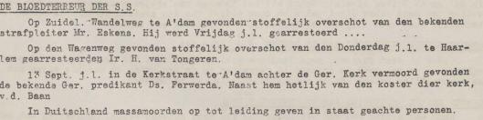Uit: Vrij Nederland, nieuwsbulletin voor Noord-Holland, 18-9-1944.