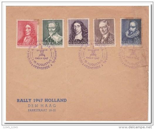 Posttempel ANWB Groenendaal Heemstede rally 1947