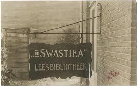 Leesbibliotheek 'Swastika'in oorlogstijd, Valkenboslaan, Den Haag