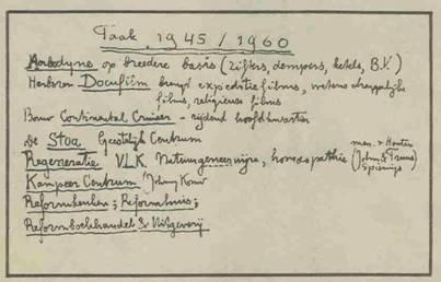 Nagelaten: taak 1945-1960.Kort voor zijn dood geschreven, zoals Herman van Tongeren zich de naoorlogse tijd voorstelde.