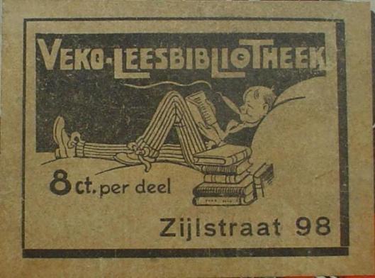 Reclame van VEKO leesbibliotheek, Zijlstraat 98, Haarlem
