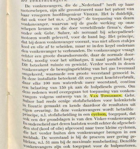 Vonkenvangers op de Oranje, volgens ontwerp van ir.H.van Tongeren (De Ingenieur, nr.27, 7-7-1939).