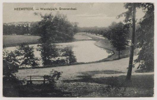 Groenendaal met rechts zicht op de Vrijheidsdreef in 1922