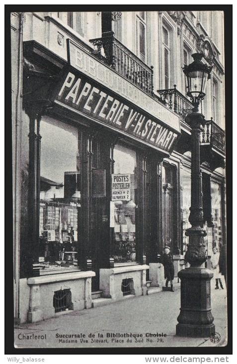 Een vooroorlogse winkelbibliotheek in Charleroi
