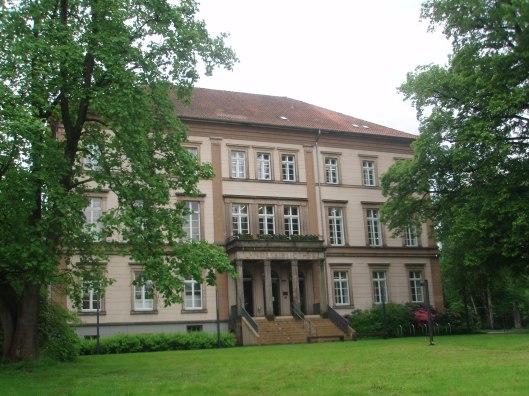Het gebouw van de Lippische Landesbibliothek in Detmold (2013)