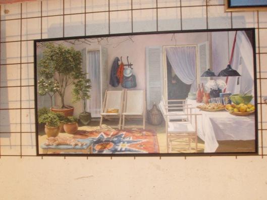 De patio, een schilderij van Maria Spaargaren