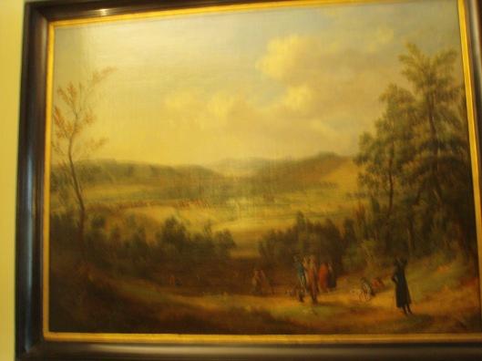 Blick auf Pyrmont von Norden. Chr. Georg Schütz der Aeltere, 1775
