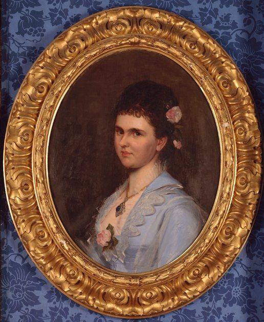 Prinses Emma, in 1878 geportretteerd door Eleonor Bell