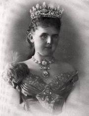 Prinses Emma von Waldeck gefotografeerd in Bad Pytmont