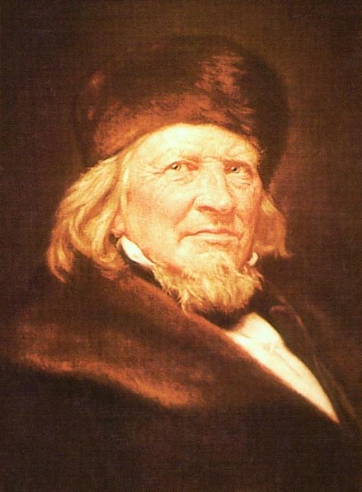 Geschilderd portret in Schloss Fallersleben met een aan Hoffmann von Fallersleben gewijd museum in Wolfsburg