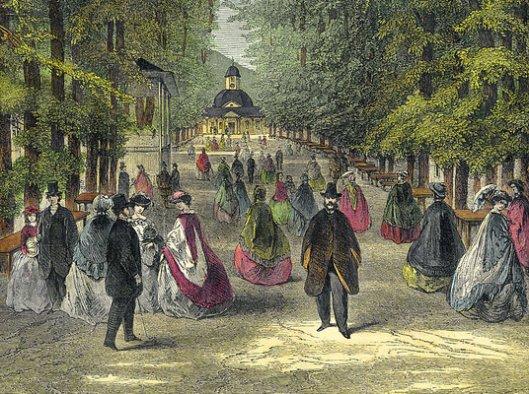 Aristocratische en zelfs veel vorstelijke personen bezochten afgelopen eeuwen Bad Pyrmont om gezondheidsredenen