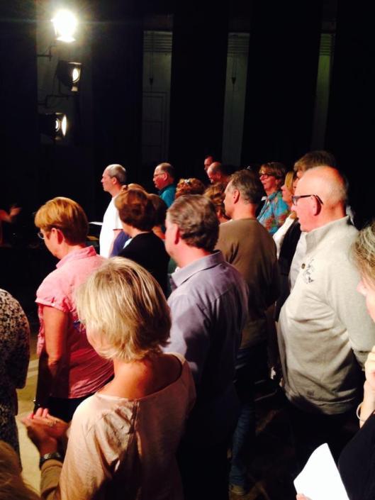 Optreden op 27 september 2014 van het Voorwegkoor in Bad Pyrmont (foto W.van den Berg)