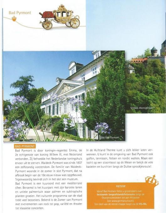 Bad Pyrmont, uit brochure 'De Oranjeroute'.