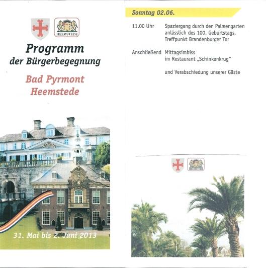 Programmaoverzicht 31 mei - 2 juni 2013