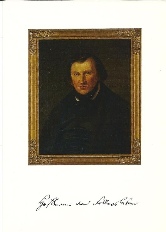 Hoffmann von Fallersleben naar een olieverfschilderij van Georg Witmann, in de Lippische Landesbibliothek Detmold