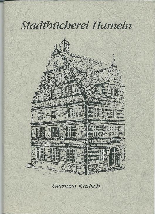 De stadsbibliotheek van Hameln (Hamelen) is in 1914 opgericht en was van 1972 tot 1989 gevestigd in het historische 'Hochzeitshaus' . Voorzijde van een in 1989 verschenen boek