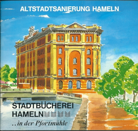 Vooromslag van een in 1990 verschenen brochurre over de vernieuwde 'Pfortmühle' (ontvangen van directeur Bernhard Greten)