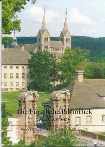 Vooromslag van een brochure 'Die Fürstliche Bibliothek zu Corvey' in de serie Westfälische Kunstschatten, Heft 71