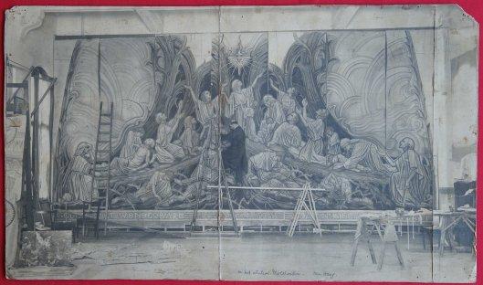 Atelier van Antoon Molkenboer in Den Haag, 1926