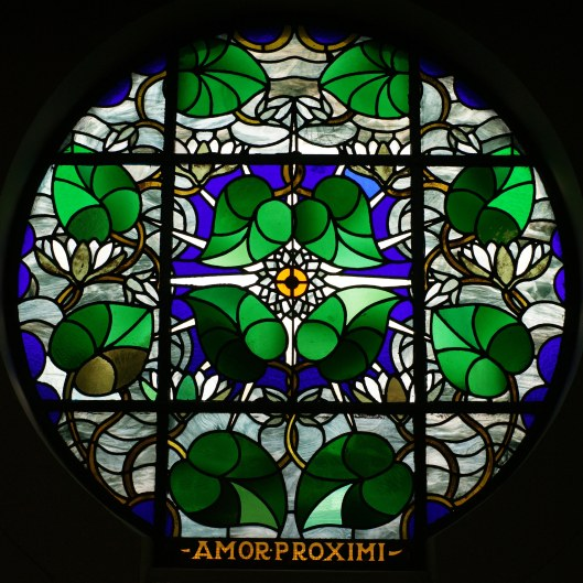 Glas-in-lood raam St.Antonius Abt kerk, 1927