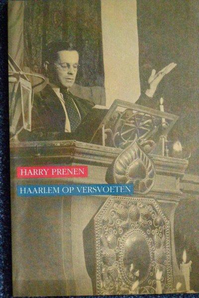 Vooromslag van de bundel 'Haarlem op versvoeten' door Harry Prenen. Haarlem, De Vrieseborch, 1989.