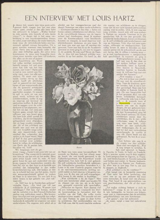 Een interview met Louis Hartz, uit: Op de Hoogte, jaargang 21, 1924