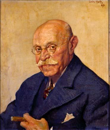 Portret door Louis Hartz uit 1931 van Simon van Adelberg (1853-1938) (Joods Historisch Museum Amsterdam)